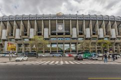 The historical Santiago Bernabeu, Madrid, Spain royalty free stock photo