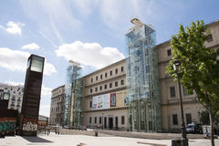 MADRID, SPAIN - Reina Sofia on august 14, 2015  in Madrid: exter Stock Photography