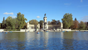 Madrid, spain. Retiro alfonso in madrid, spain Royalty Free Stock Photo