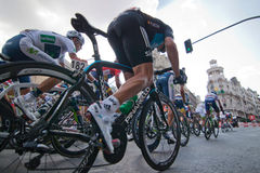MADRID, SPAIN - SEP 9th 2012: Vuelta 2012. Royalty Free Stock Photos