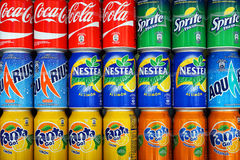 MADRID, SPAIN - SEPTEMBER 11: carbonated drinks company Coca-Col Royalty Free Stock Images