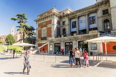 MADRID SPAIN-11 SEPTEMBER 2015: Det medborgarePrado museet är på Royaltyfria Bilder