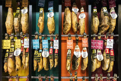 MADRID, SPAIN-SEPTEMBER 11: Hamon- Spanish national delicacy, Un Royalty Free Stock Images