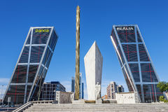 Madrid, Spain - September 21, 2013: La Puerta de Europa known as Stock Photography