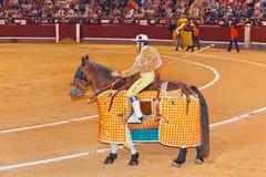 MADRID, SPAIN - SEPTEMBER 18: Matador in bullfight on September Stock Photo