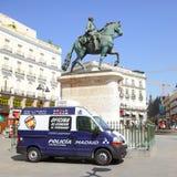Police car in Plaza del Sol Stock Photo