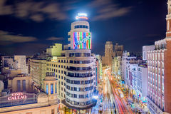 Madrid Spain Shopping Streets Stock Photos