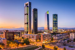 Madrid, Spain Skyline. Madrid, Spain financial district skyline Royalty Free Stock Images
