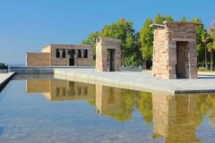 Madrid, Spain. Temple of Debod, Egyptian temple rebuilt. Ancient architecture Stock Photography
