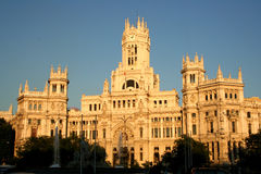madrid spain townhall Royaltyfria Bilder