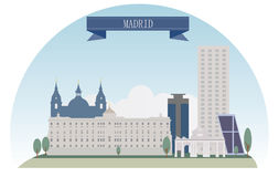 Madrid. Spain. Vector for you design Royalty Free Stock Photos