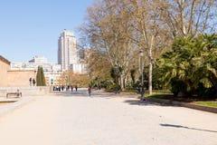 """Madrid-/Spanien-†""""03 03 2019: Parc des ?gyptischen Tempels von Debod in Madrid Spanien lizenzfreie stockfotos"""
