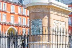 """Madrid/Spanien †""""03 03 2019: Plazaborgmästaren i Madrid med samlas turism fotografering för bildbyråer"""