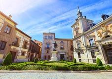 Madrid, Spanien Altes Rathaus am Bereich lizenzfreies stockfoto