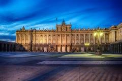 Madrid, Spanien: das Royal Palace, Palacio wirkliches De Madrid lizenzfreie stockfotos