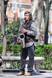 Madrid, Spanien - der Musiker in einem Park Stockbild