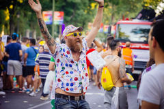 MADRID, SPANIEN - 6. JULI 2016: Jährlicher homosexueller Stolz Madrids (Madrid oder stockbilder