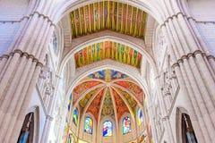 MADRID SPANIEN - JUNI 23, 2015: Domkyrka av St Mary Royaltyfria Bilder