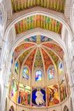 MADRID SPANIEN - JUNI 23, 2015: Domkyrka av St Mary Arkivbild