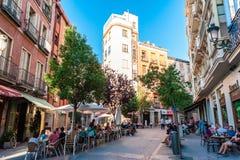 MADRID SPANIEN - 23. JUNI 2015: Piazzade San Miguel Stockfoto