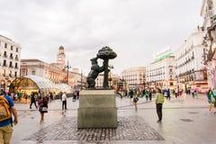 MADRID SPANIEN - 23. JUNI 2015: Puerta del Sol Lizenzfreies Stockfoto