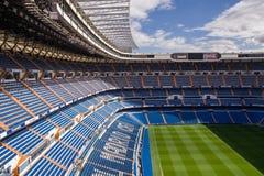 MADRID SPANIEN - MAJ 14, 2009: Santiago Bernabeu Stadium av Real Madrid på Maj 14, 2009 i Madrid, Spanien Verkliga Madrid C f var Arkivbilder