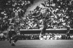 Madrid Spanien - 01 MAJ 2019: Virgil van Dijk spelare under den UEFA Champions Leaguefinalmatchen 2019 mellan FC Liverpool vs arkivbilder