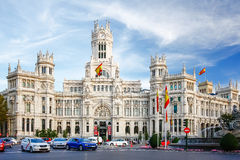 MADRID, SPANIEN - 14. OKTOBER 2012: Palacio de Comunicaciones an Stockbilder