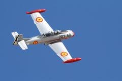 Madrid Spanien. Oktober 5, 2008. Piloten dör i krasch visar på a Arkivfoton