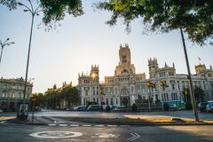 Madrid Spanien - Oktober 5th 2018 royaltyfri fotografi
