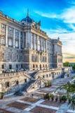 Madrid Spanien: Royal Palace, Palacio verklig de Madrid Royaltyfri Bild