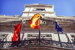 MADRID SPANIEN - SEPTEMBER 8: Puerta del Sol Madrid royaltyfri fotografi
