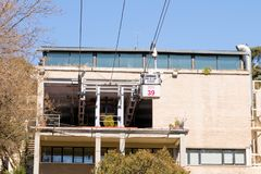 "Madrid/Spanje †""03 03 2019: Kabelwagen telepherique van Madrid Spanje stock afbeelding"