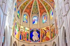 MADRID SPANJE - 23 JUNI, 2015: Kathedraal van Heilige Mary Royalty-vrije Stock Afbeelding