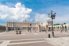 MADRID SPANJE - 23 JUNI, 2015: Royal Palace Royalty-vrije Stock Afbeelding