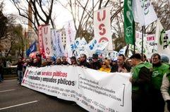 Demonstratie in Madrid M10 Royalty-vrije Stock Fotografie