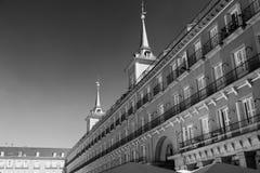 Madrid Spanje: Pleinburgemeester Stock Foto