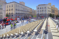 Madrid. Square Puerta del Sol Royalty Free Stock Image