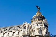 Madrid stad Arkivbild