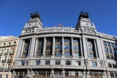 Madrid stads- plats royaltyfri bild