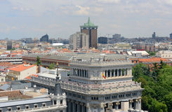 Madrid stadshorisont, Spanien Arkivbild