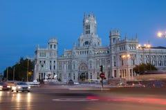 Madrid stadshus Arkivbilder