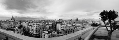 Madrid stadspanorama Arkivbild