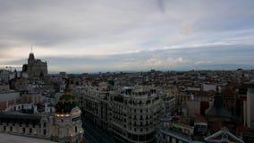 Madrid-Stadtzentrum, Gran Via Spanien stock footage