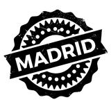 Madrid stamp rubber grunge Stock Photos