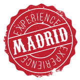 Madrid stamp rubber grunge Stock Images