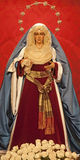 Madrid - Statue of Virgen de la Macarena from church San Isidoro Royalty Free Stock Images