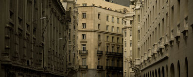 The Madrid street. Old city, Spain, Europa Royalty Free Stock Photography