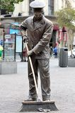 Street cleaner statue Madrid  Royalty Free Stock Photo
