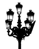 Madrid Street Light, isolated. Traditional Madrid street light on white background Stock Photography